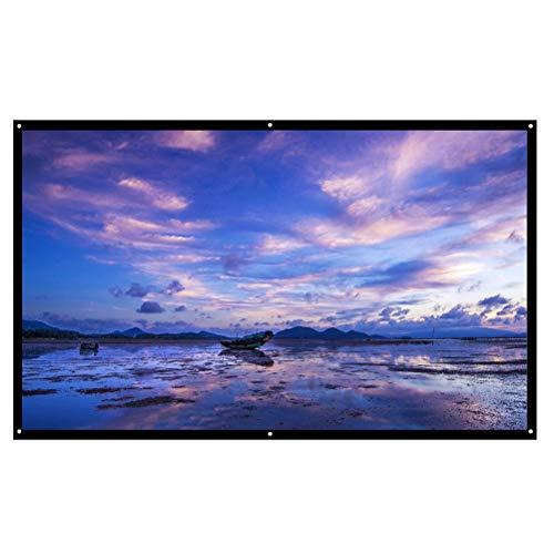 ZHUSHI Pantalla de proyector Reflectante de Alto Brillo 16: 9 Pantalla de...