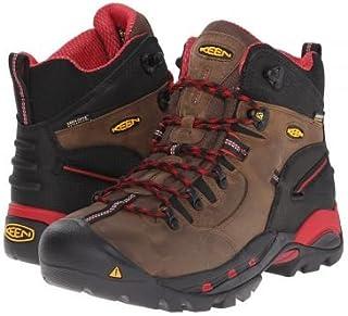 [キーン] Utility メンズ 男性用 シューズ 靴 ブーツ 安全靴 ワーカーブーツ Pittsburgh Boot - Bison/Red [並行輸入品]