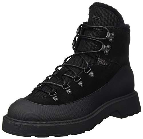 BOSS Herren Gladwin_Halb_sdrbny Half Boot, Black1, 44 EU (10 UK)