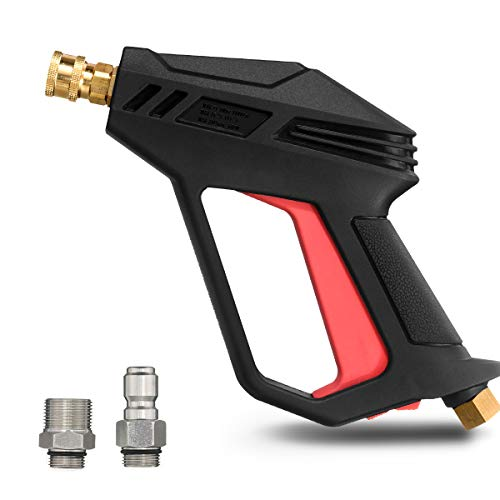 MATCC Pressure Washer Gun 4000 PSI Power Washer Gun with M22-14 mm and 3/8' Quick Inlet Connector for Car High Pressure Power Washer