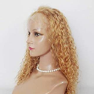 Women's Synthetic Lace Front Wig Kinky Curly Medium Brown Natural Black Strawberry Blonde Natural Wigs Costume Wig