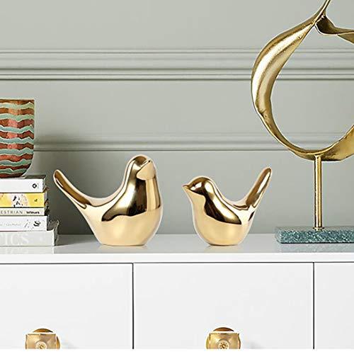 Adornos de cerámica para pájaros dorados, decoración moderna, decoración de estilo nórdico,...