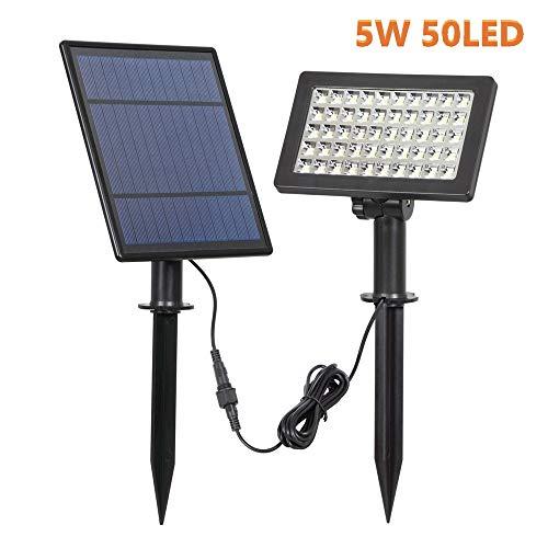 ZYYBRE Solarleuchten,50 LEDs Solarlicht,Solarwarmwasserbereiter 5w 400lm,Solar Wasserdicht Ip44,FüR GäRten, Terrassen, Garagen, Mauern, Wege, Terrassen