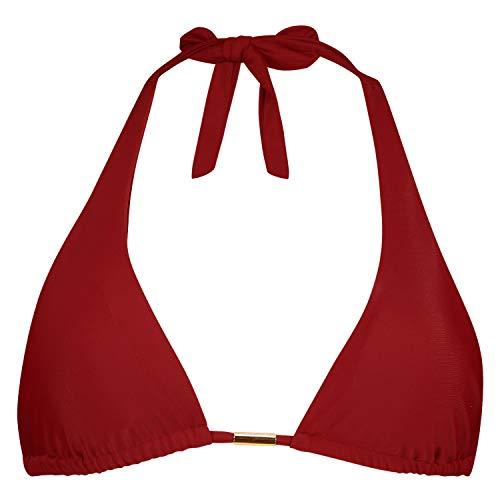 HUNKEMÖLLER Damen Triangel-Bikini-Oberteil Pagoda Rot L