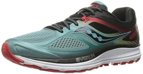 Saucony Men's Guide 10 Running Shoe, Blue/Black/Red, 9 D(M) US
