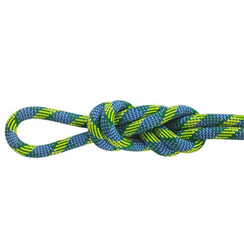 Maxim Glider 10.5 mm UIAA Water-Repellent TPT Dynamic Climbing Rope, Mystique/STD?Dry, 60 m / 200 ft (New England Ropes Glider)