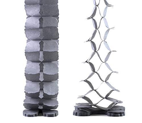 Creativery Papier Girlande 6 Meter (hell Silber/grau 012H) // Papiergirlande Hängedeko Raumdeko Party Geburtstag Raumdekoration Deko