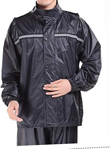 yuyi Regenmantel, Regenhose, Anzug, Erhöhung einzelner Regenmantel-Set, wasserdicht, reflektierender Poncho, 2 Farben optional, Größe wählbar (Farbe: Marineblau, Größe: Xxxl), Größe L, Marineblau