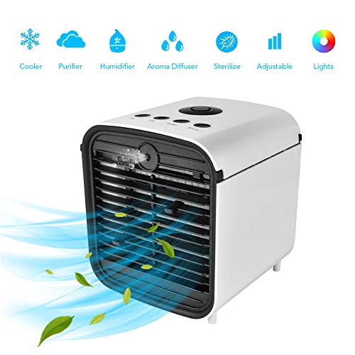Tragbarer Klimaanlagenlüfter Leakproof LuftküHler Air Cooler KlimagerüTe Ventilator Cool Air Ventilator, Luftbefeuchter Für Schlafzimmer, Zuhause, Auto, Büro