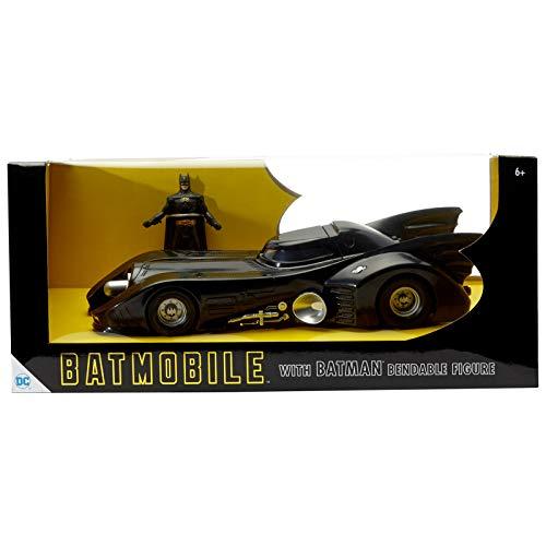 NJ Croce DC 3934 NJCroce 1989 Batmóvil con Figura de Batman, Negro, Estándar