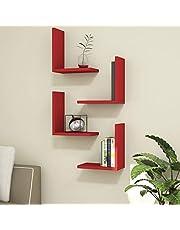 Bravo Melamine Shelves and Racks - Red, 16H x 30W x 30D cm