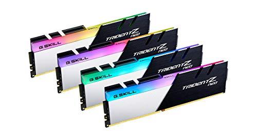 Kit Barrettes mémoire 64Go (4x16Go) DIMM DDR4 G.Skill Trident Z Neo RGB PC4-28800 (3600 MHz) (Noir/Blanc)