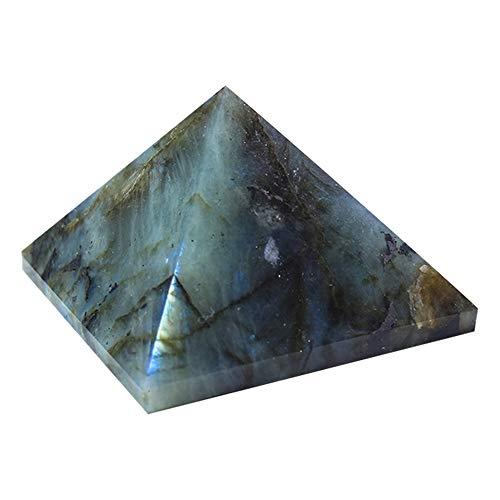 PQZATX 50Mm NatüRlicher Labradorit Quarz Pyramide Punkt Chakra Heilung