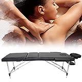 Table de massage pliante pour spa - Cadre en aluminium - Hauteur réglable - Table de massage pour salon de tatouage, spa - Avec housse de transport