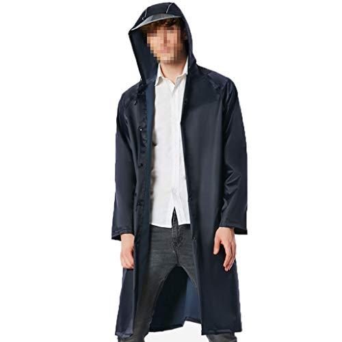 Raincoat Poncho Mens Women,Waterproof Outdoor Rain Jacket, Anti-Wrinkle Reusable Waterproof Rain Poncho, Best for Outdoor Activities Unisex (Color : Cyan, Size : L)
