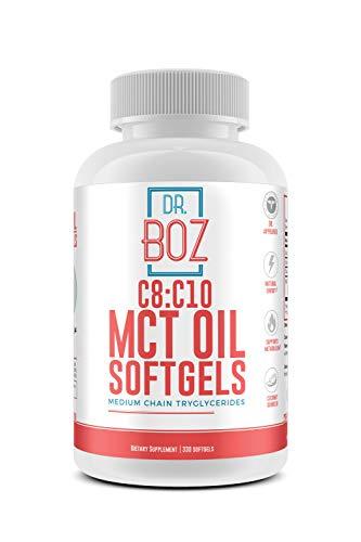 Dr. Boz C8:C10 MCT Oil Softgels [Keto MCT softgel] Keto Supplement -Best MCT Pill for Keto Diet - Weight Loss Supplement – [MCT Softgel - 330 Count]