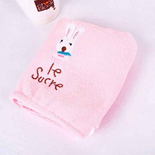 XYZMDJ Precioso servilleta Seca para el Cabello, Turbante, Sombrero de Microfibra, Toallas, baño, Rosa, Gorro de Pelo de Secado rápido para baño, (Color : Pink)