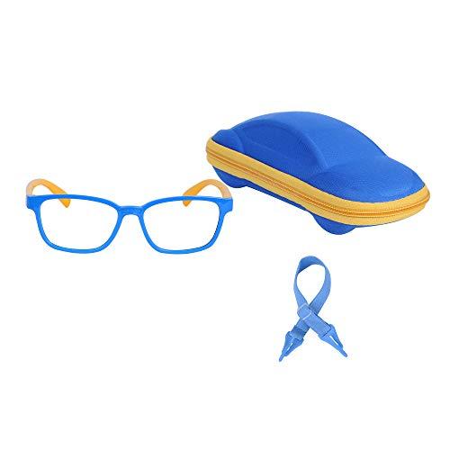 JoXiGo Lunettes Ordinateur Anti Lumière Bleue Enfant Bébé Garçon et Fille (3-7ans) + Cordons à lunettes + Étui à Lunettes