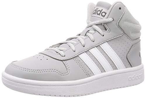 adidas Herren HOOPS 2.0 MID Basketballschuh, Grey Two F17 Ftwr White Grey Five, 42 EU