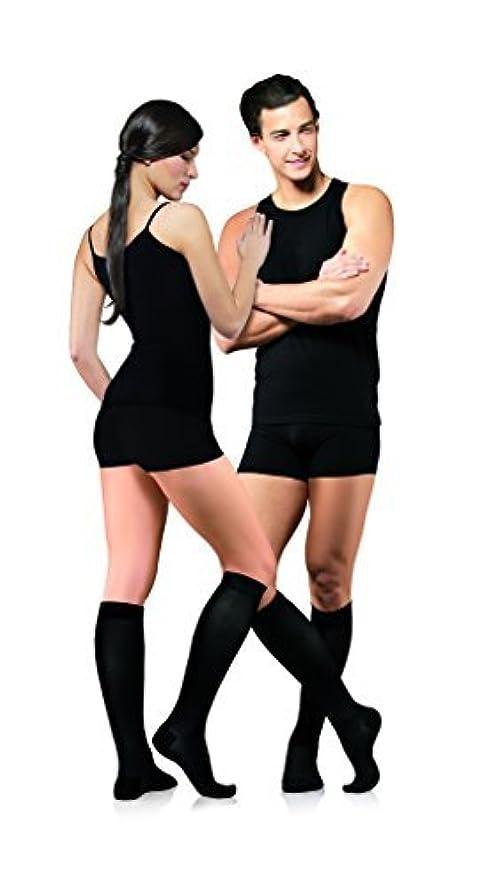 早熟ハント変装したINFINITUM MEDICAL Compression COTTON Socks with CLOSED Toe, FIRM Grade Class I (18-21mmHg), Knee High Support Stockings with Toecap UNISEX (Class 1 18-21mmHg Height: 62.2-66.9 in, Size:S) by INFINITUM