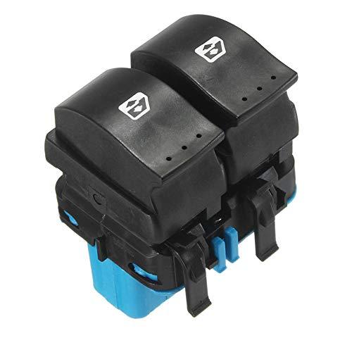 OLDJTK 10 pasadores de la Ventana eléctrica Interruptor Levantador Interruptores 8200107772 8200315040 for Renault Megane II 2 Scenic II Grand Scenic II 2002-2014 (Color : Blue)