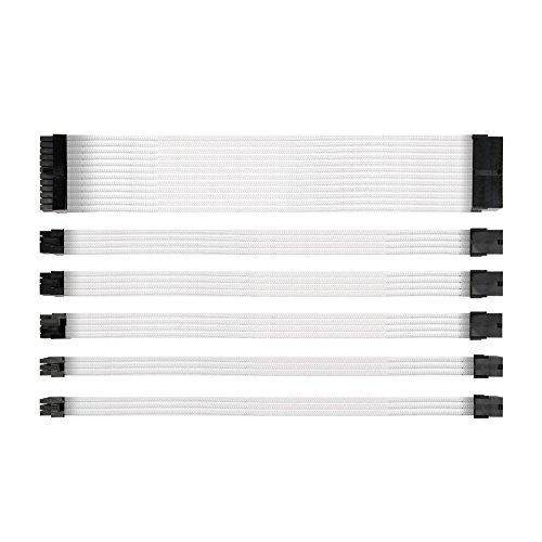 Antec PSU kabelverlängerung - Sleeved Cable Verlängerungskabel-Kit (ATX/EPS 8 Pin PCI-E/6-W/Kämme weiß 300mm