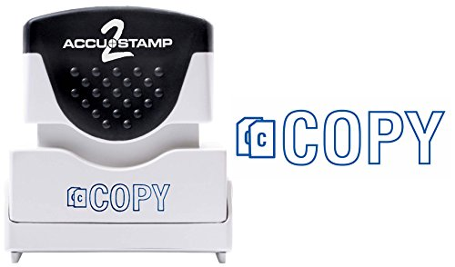 """ACCU-STAMP2 Message Stamp with Shutter, 1-Color, COPY, 1-5/8"""" x 1/2"""" Impression, Pre-Ink, Blue Ink (035581)"""