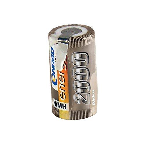 Conrad 206002 Pieza para maquetas radio control (RC) - Piezas para maquetas radio control (RC) (Batería, Níquel-metal hidruro (NiMH), 2000 mAh, 1,2 V, Sub-C, 47 g)