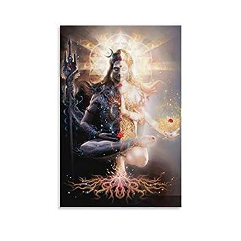 TYUIY Spiritual Art Shiva Shakti Shiva Art Lord Shiva Canvas Art Poster and Wall Art Picture Print Modern Family Bedroom Decor Posters 24x36inch 60x90cm