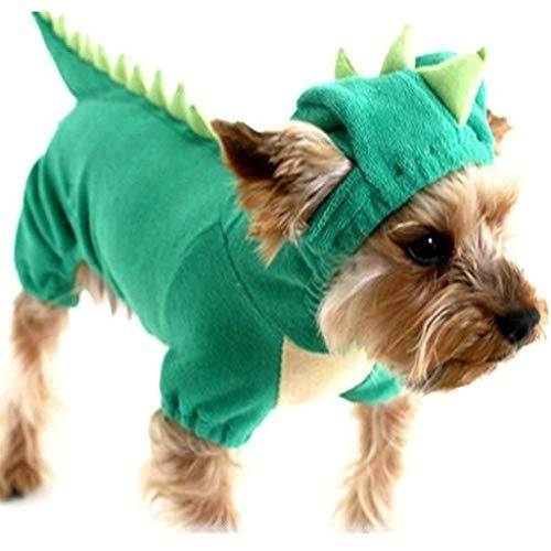 Dinosaur Hond Halloween Kostuum Huisdier Dino Hoodie voor Kleine & Medium Honden, XL