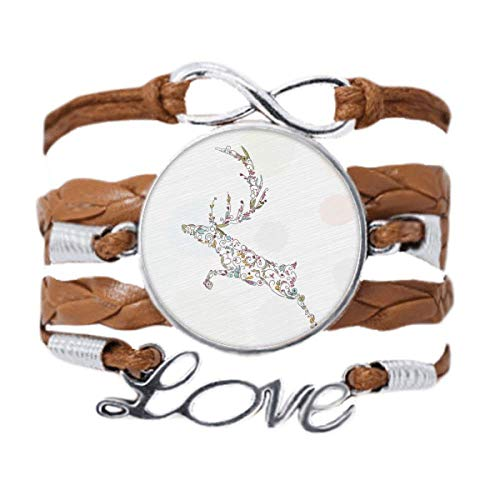 DIYthinker Reindeer Christmas Plant Pattern Bracelet Love Chain Rope Ornament Wristband Gift