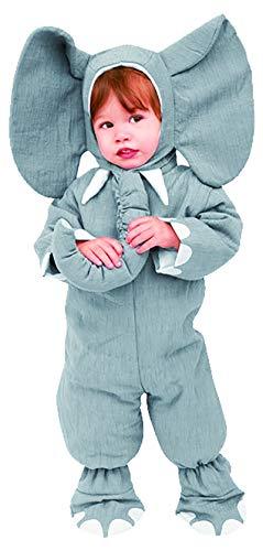 Foxxeo Elefantenkostüm für Kleinkinder grau Elefanten Kostüm für Kinder Größe 98-104