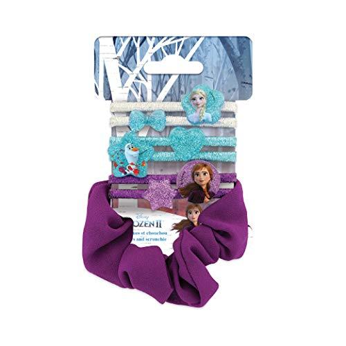 Disney Frozen - Juego de 6 gomas elásticas, pulsera de perlas Elsa/Anna/Olaf, 7 unidades