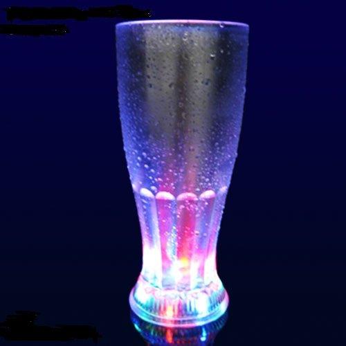 LED Weizenglas, Weissbierglas, Hefeglas blinkend und leuchtend multicolor bunt