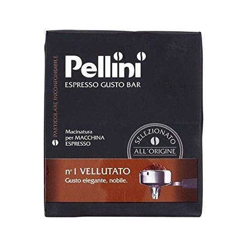 Pellini No.1 Vellutato Gemahlenen Kaffee 500G (Packung mit 2)