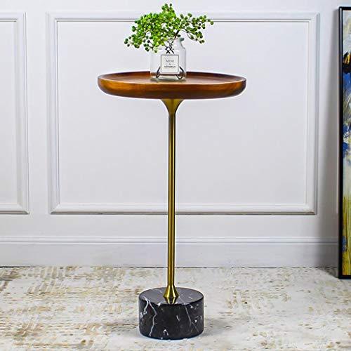 Kleine salontafel woonkamer bijzettafel bank metaal bijzettafel hoekbank salontafel standvoet industriële houten kant premium oppervlak MDF M Zwart