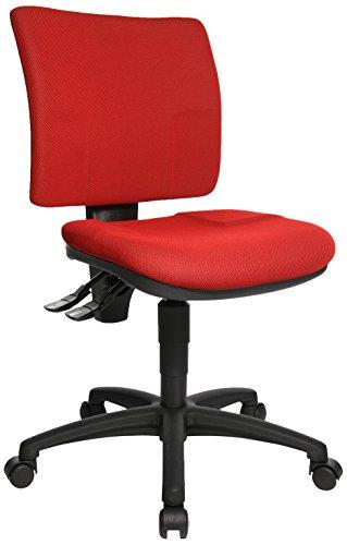 Topstar 8070BC0 U50, Bürostuhl, Schreibtischstuhl, niedrige Rückenlehne, Bezugsstoff, rot