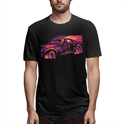 Keanu Reeves - Camiseta de manga corta para hombre (transpirable), color negro