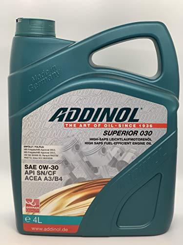 ADDINOL SUPERIOR 0W-30 A3/B4 Motorenöl, 4 Liter