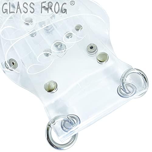 【GLASSFROG】中身の見えるシザーケース透明クリアハサミ7丁美容師トリマー
