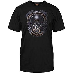 Harley-Davidson Military – Men's Black Skull Graphic T-Shirt – Baghdad | Ghoulish