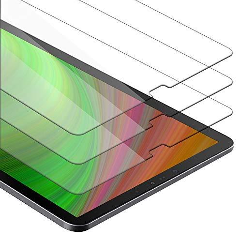 Cadorabo 3x Pellicola Protettiva compatibile con Samsung Galaxy Tab S4 (10.5' Zoll) T830 / T835 in ELEVATA TRASPARENZA - 3x Vetro di protezione del display con durezza 9H con compatibilità 3D touch