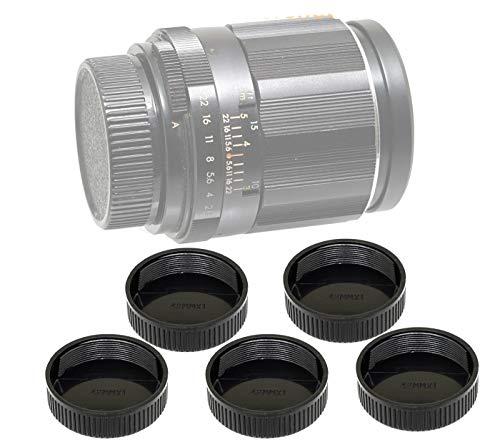 (5 Packs) Fotasy Lens Rear Caps for M42 42mm Screw Mount Lens, M42 Lens Cap, M42 Lens Rear Cap, 42mm Screw Mount Lens Cap, M42 End Cap, fits Pentax Takumar/MamiyaSekor/Helios M42 Lens, etc