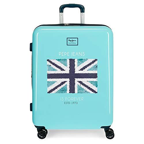 Pepe Jeans Cuore Suitcase 69 Centimeters 81 Blue (Azul)
