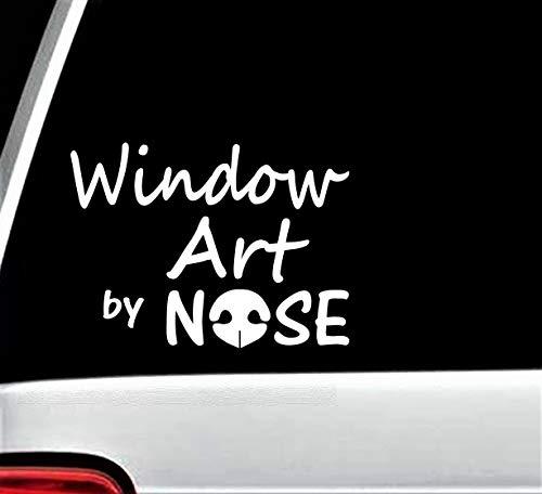 H421ld Vinilo adhesivo para ventana de coche, My WIn+Arent Dirty, Dog Nose Art