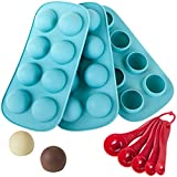 Webake Silicone Chocolate Candy Molds, Round Sphere Baking Molds for Cordial Truffle, Jello Pudding...
