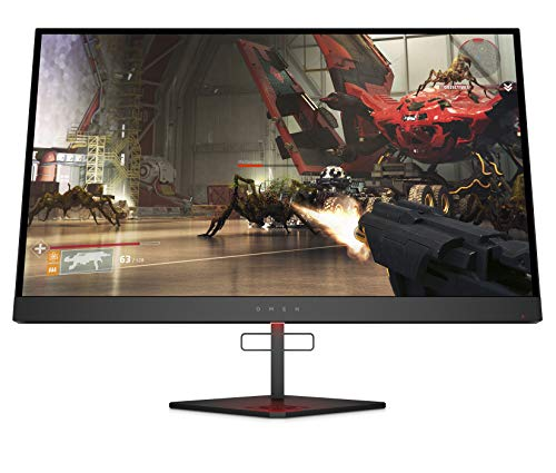 "HP OMEN X 27"" 240 Hz 1ms Gaming Monitor, QHD 2560 x 1440p, AMD Radeon FreeSync 2 HDR, HDR, DCI P3, (6FN07AA) Black (27HDR)"