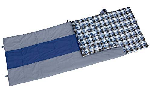 Berger Deckenschlafsack Arizona grau-blau 220x80cm mit überstehendem Kopfteil