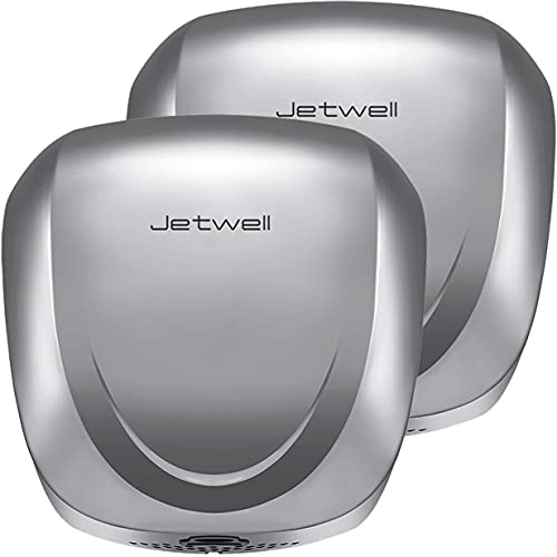 Jetwell 2pack Ul Listed High Speed Commercial Automatic Eco Hand Dryer With Hepa Filter-Heavy Duty Stainless Steel-Warm Wind