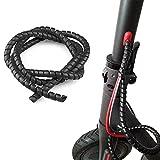 Vestigia® - Protección de Cable en Espiral para Xiaomi M365 1S Pro Scooter Eléctrico - Flexible Funda Organizador Cables - Cubre Cables de 1m (Negro)